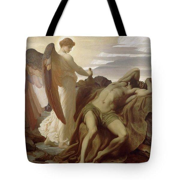 Elijah In The Wilderness Tote Bag