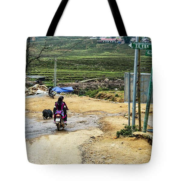 6 Km To Sapa, Vietnam Tote Bag