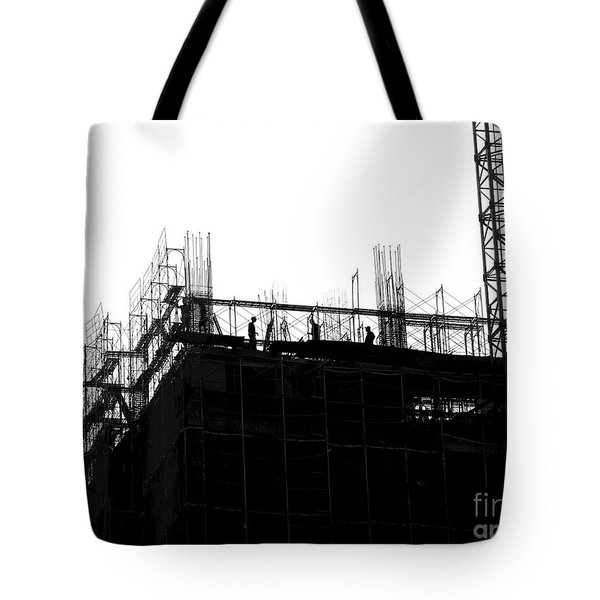 Large Scale Construction In Outline Tote Bag
