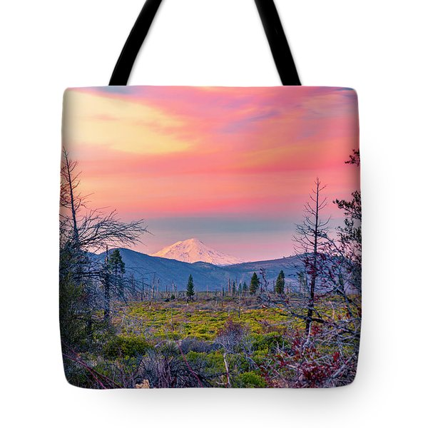 60 Miles To Mount Shasta Tote Bag
