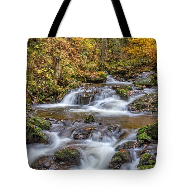 Tote Bag featuring the photograph Cascades And Waterfalls by Bernd Laeschke
