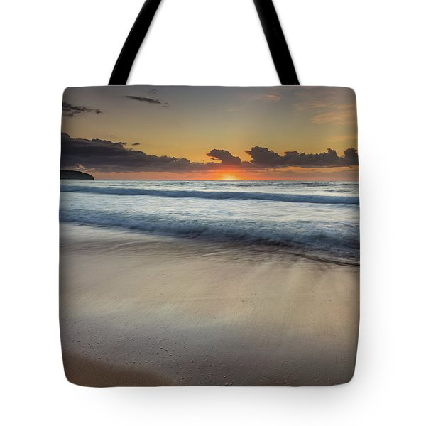 Sunrise Beach Seascape Tote Bag