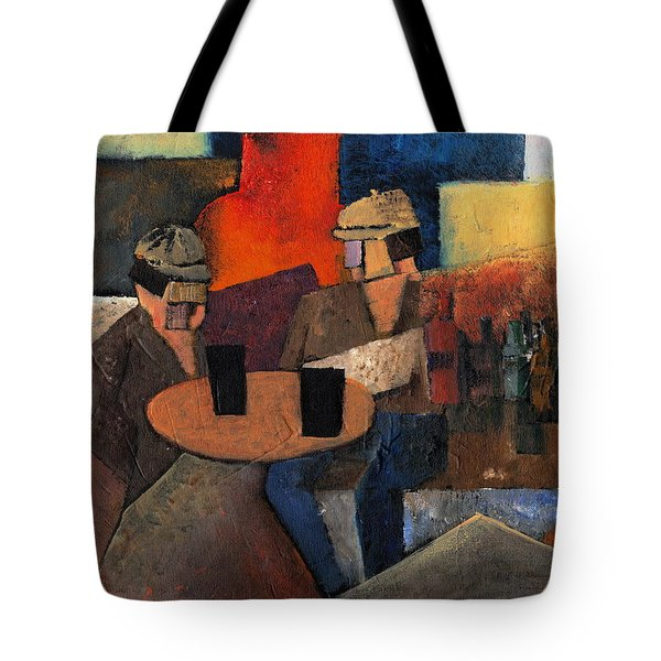 Tote Bag featuring the painting 7073 Two Black Solutions by Val Byrne