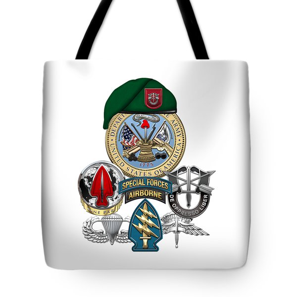 7th Special Forces Group - Green Berets Special Edition Tote Bag