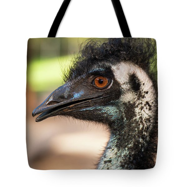 Tote Bag featuring the photograph Emu By Itself Outdoors During The Daytime. by Rob D Imagery