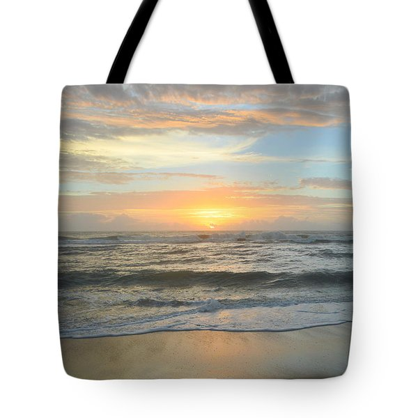 Tote Bag featuring the photograph 9/17/18 Obx Sunrise  by Barbara Ann Bell