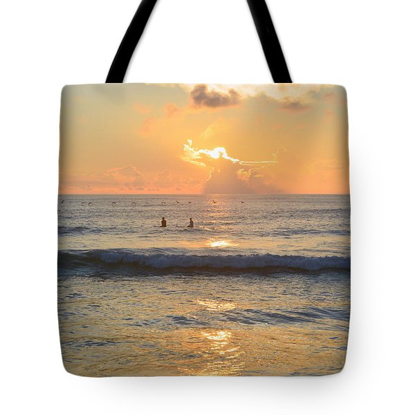 Tote Bag featuring the photograph 9/3/18 Kitty Hawk Sunrise by Barbara Ann Bell