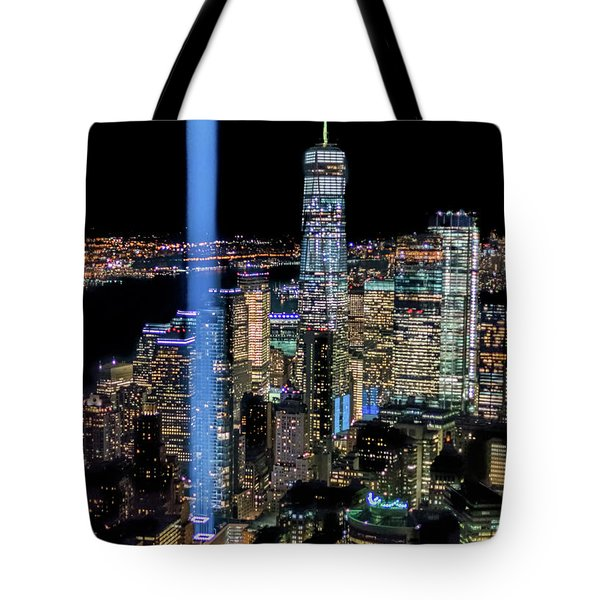 Tote Bag featuring the photograph 911 Lights by Francisco Gomez