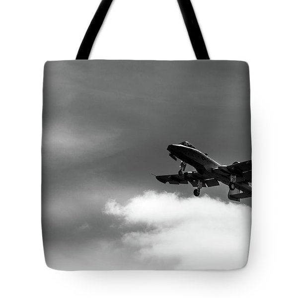 Tote Bag featuring the photograph A-10 Slow Pass by Doug Camara