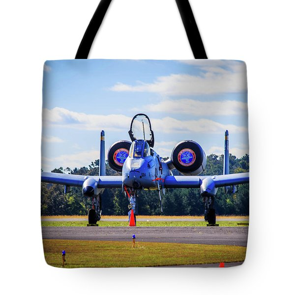 Tote Bag featuring the photograph A-10c Thunderbolt II by Doug Camara