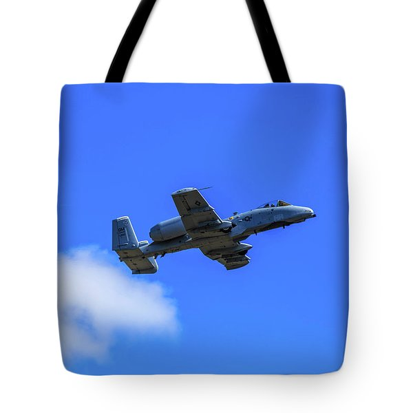 Tote Bag featuring the photograph A-10c Thunderbolt II In Flight by Doug Camara