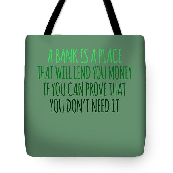 A Bank Tote Bag
