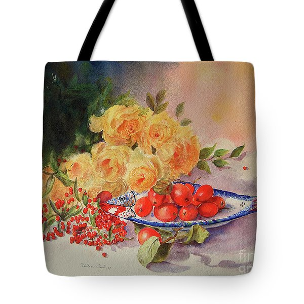 A Berry Or Two, Watercolour Still Life Tote Bag