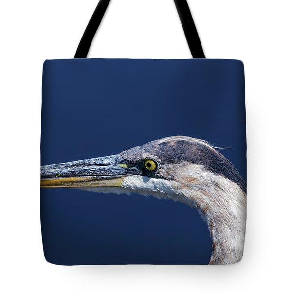 A Blue Portrait Tote Bag