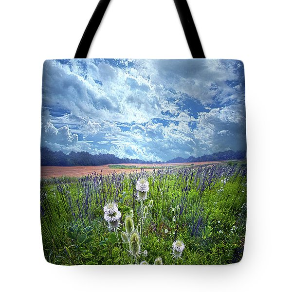 Tote Bag featuring the photograph A Chance Of Rain by Phil Koch