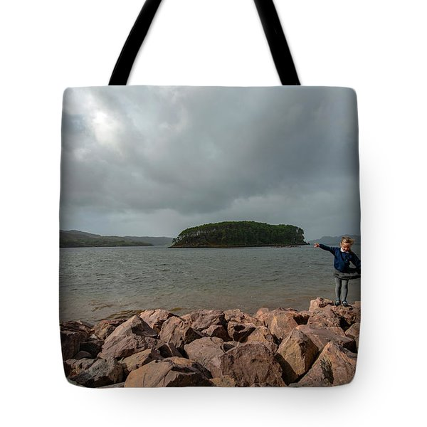 A Charming Little Girl In The Isle Of Skye 1 Tote Bag