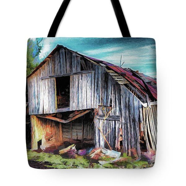 A Classic Vintage Barn In The Blue Ridge Ap Tote Bag