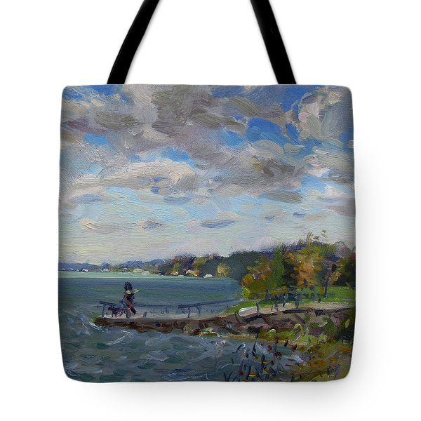 A Cloudy Day At Gratwick Park Tote Bag