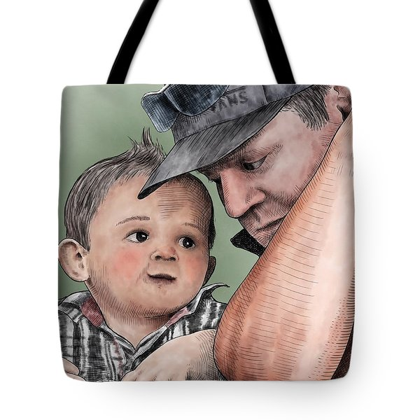 A Conversation With Daddy  Tote Bag