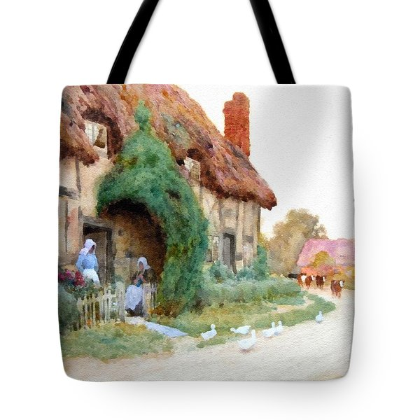 A Country Hamlet - After The Original Painting By Arthur Claude Strachan L B Tote Bag
