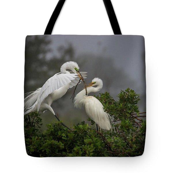 A Couple Of Birds Tote Bag