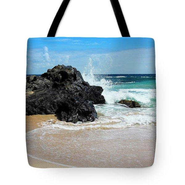 A Crashing Wave, Oneloa Bay, West Maui, Hawaii Tote Bag