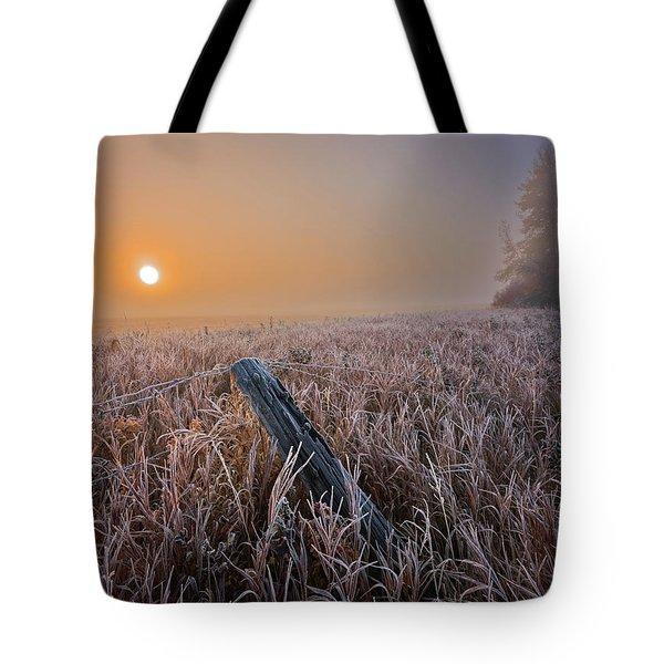 A Crisp October Morning Tote Bag