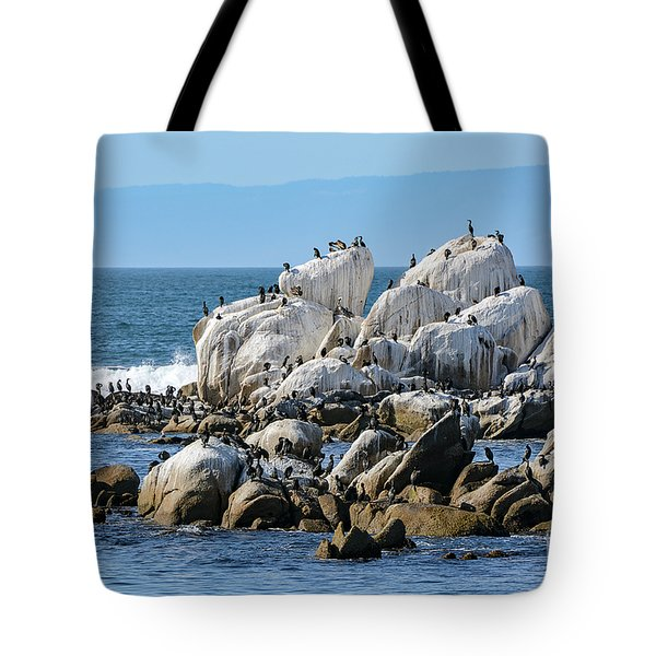 A Crowded Bird Rock Tote Bag