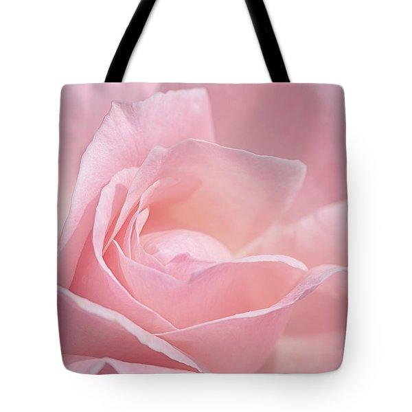 A Delicate Pink Rose Tote Bag