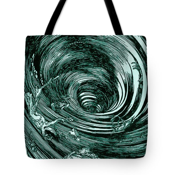 A Descent Into The Maelstrom By Edgar Allan Poe Illustration By Arthur Rackham Tote Bag