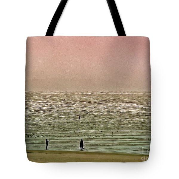 Tote Bag featuring the photograph A Distant Shore by Leigh Kemp