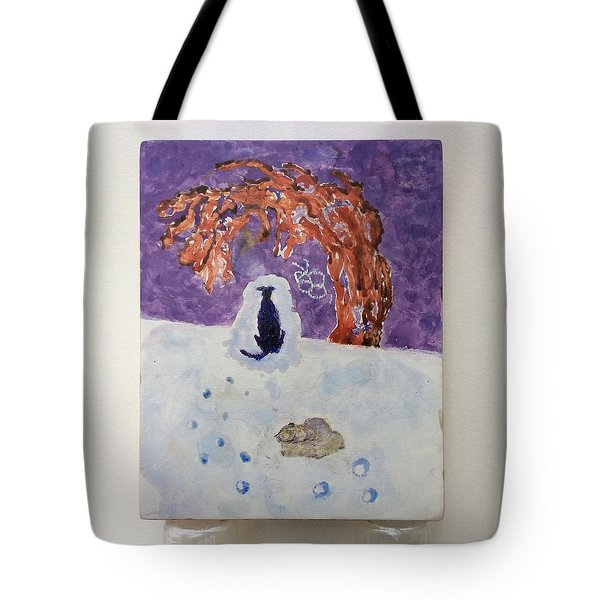 A Dog Named Novak At Home In Heaven Tote Bag