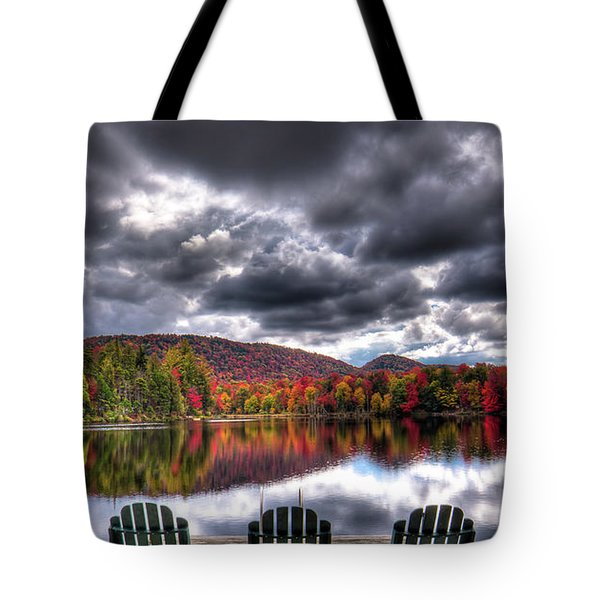 Tote Bag featuring the photograph A Fall Day On West Lake by David Patterson