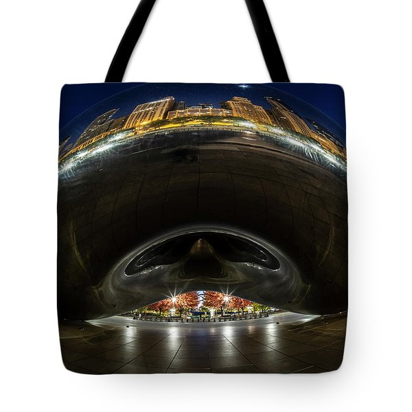 A Fisheye Perspective Of Chicago's Bean Tote Bag
