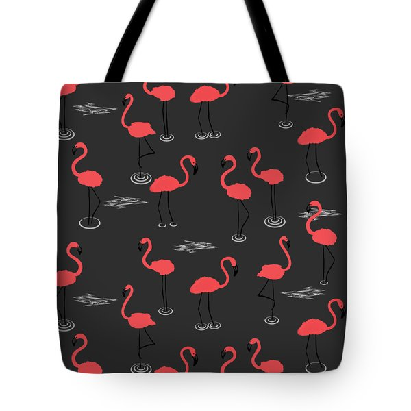 A Flamboyance Of Flamingos  Tote Bag