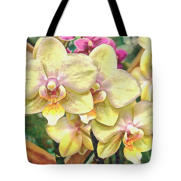 A Flash Of Orchids Tote Bag
