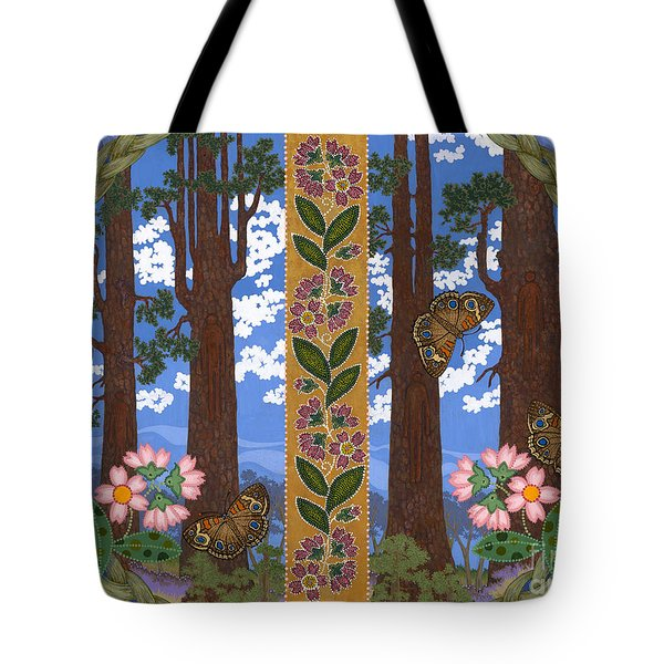 Tote Bag featuring the painting A Forest Heals by Chholing Taha