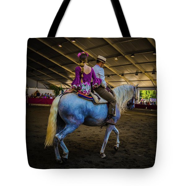 A Girl, A Boy And A Horse Tote Bag