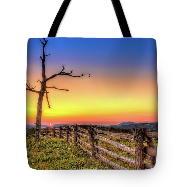 A Gorgeous Blue Ridge Sunrise Tote Bag
