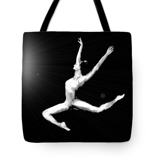 A Leap Into The Light Tote Bag