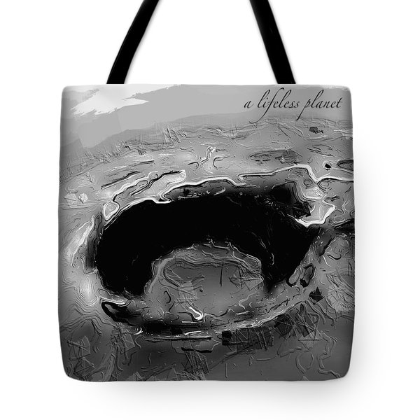 A Lifeless Planet Black Tote Bag