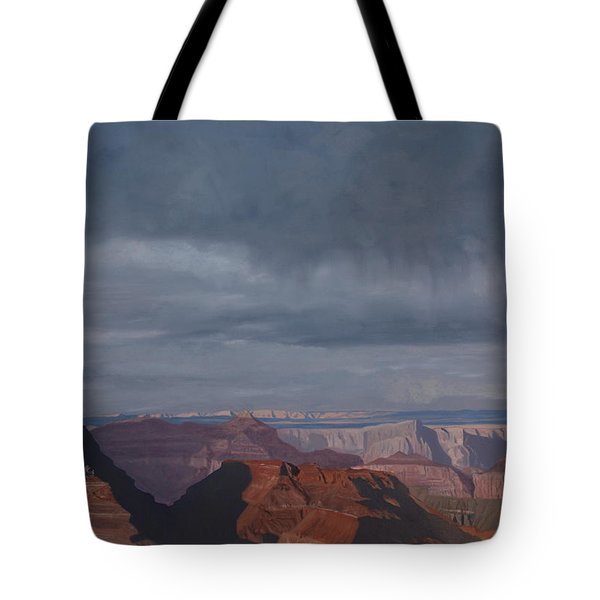 A Little Rain Over The Canyon Tote Bag