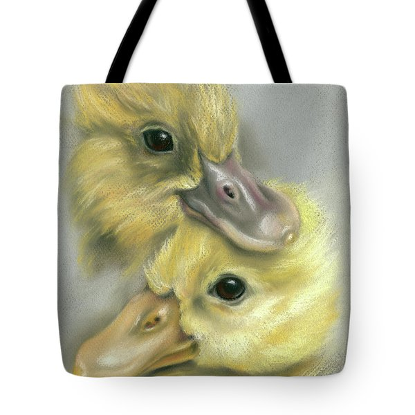 A Pair Of Friendly Ducklings Tote Bag