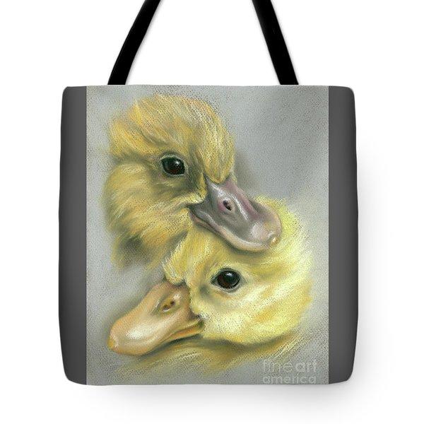 A Pair Of Friendly Ducklings Tote Bag