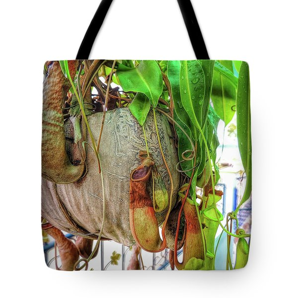 A Pitcher Plant On Our Terrace In Thailand Tote Bag