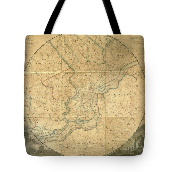 A Plan Of The City Of Philadelphia And Environs, 1808-1811 Tote Bag