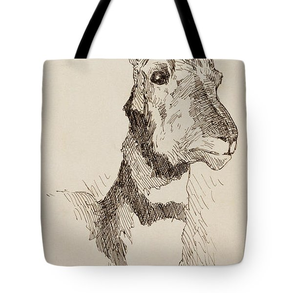 A Pronghorn Antelope By Remington Tote Bag