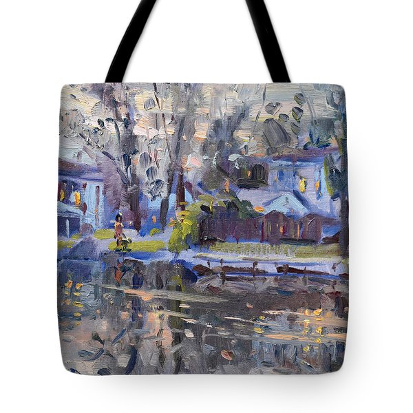 A Quiet Evening By The Water. Tote Bag