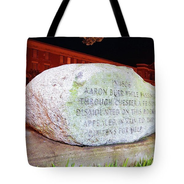 Tote Bag featuring the photograph A Rock In Chester by Joseph C Hinson Photography