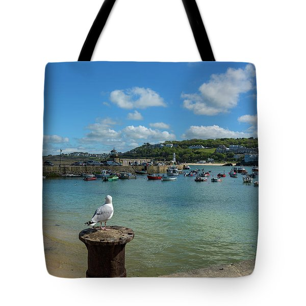 A Seagull Dreaming At The Harbour Tote Bag